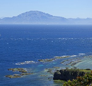 Djebel Mussa in N Morocco as seen across Strait of Gibraltar © John Muddeman